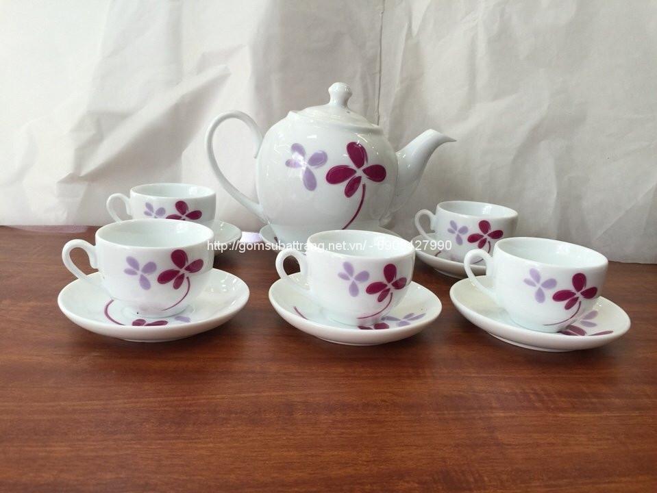 Bộ trà Minh Long 2 hấp hoa 08