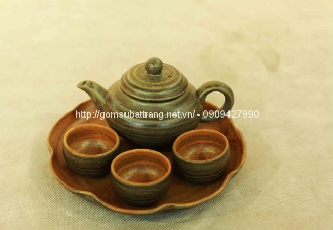 Bộ trà da lươn khay 3