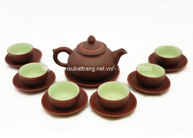 Bộ ấm trà Chóp S1 chỉ đỏ