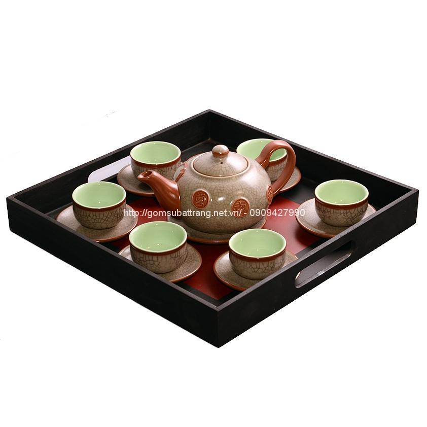 bộ trà men rạn Tống trúc