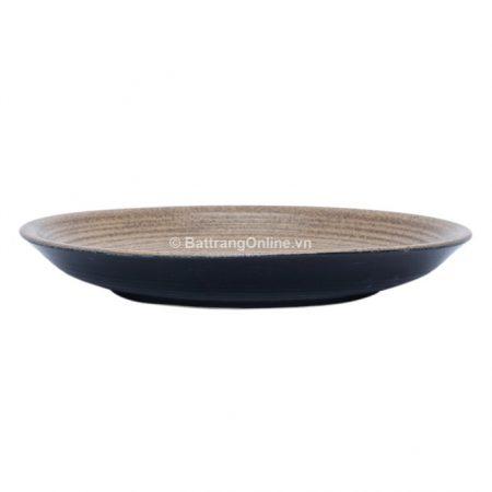 Đĩa tròn gốm Bát Tràng, đường kính 23.5cm, cao 3.5cm