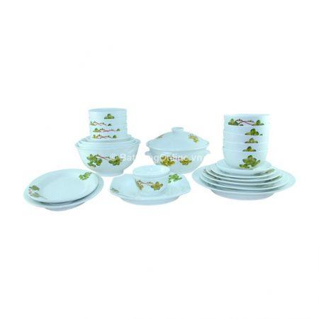 Bộ đồ ăn sứ Bát Tràng 25 món – Hoa dây xanh