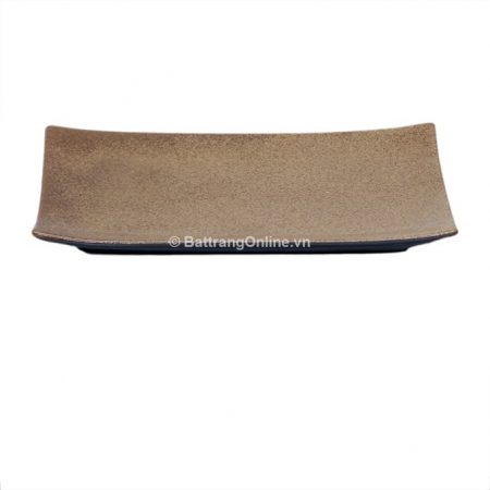 Khay chữ nhật gốm sứ bát tràng, dài 27.5cm, rộng 17cm