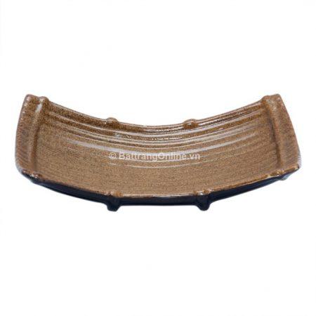 Khay cong Bát Tràng, dài 28cm, rộng 15cm