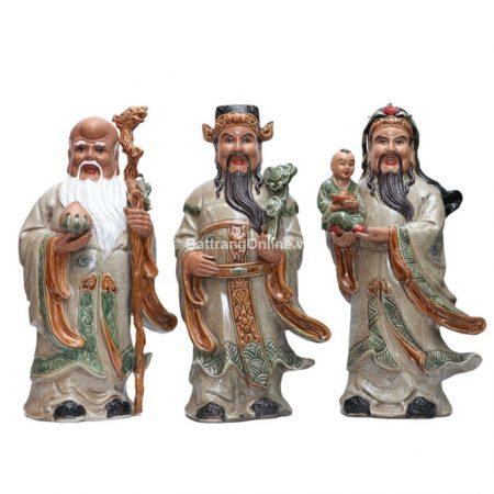 Tượng Tam Đa gốm bát tràng – Cao 48cm – Rộng 18cm