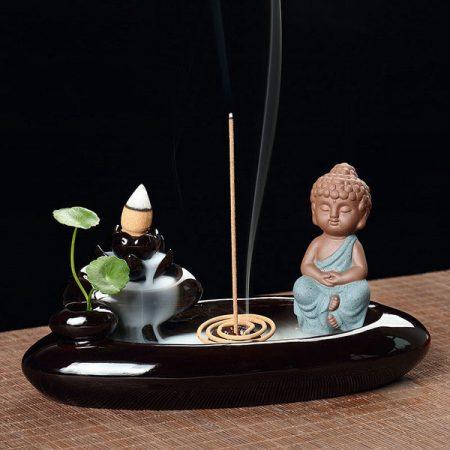 Thác khói trầm hương Phật thiền hồ liên hoa