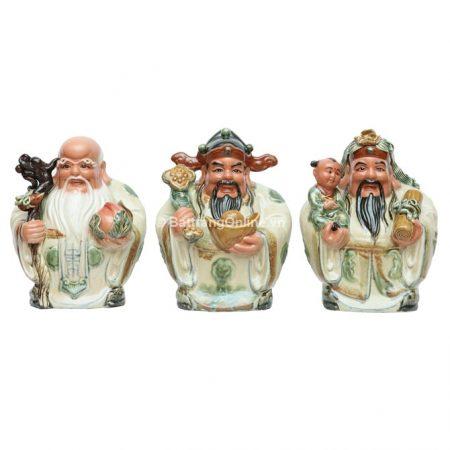Tượng Tam Đa no đủ sứ Bát Tràng – Cao 35cm, rộng 15cm