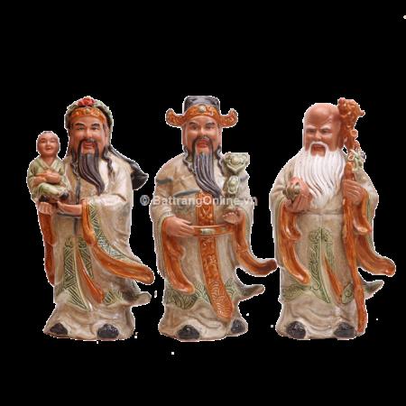 Tượng tam đa gốm sứ Bát Tràng – Cao 40cm