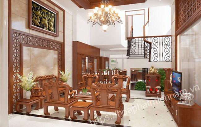 Đánh giá về bộ bàn ghế gỗ phòng khách Hòa Phát