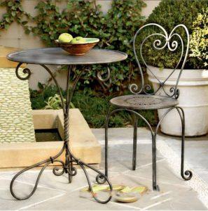 Các mẫu bàn ghế sắt đẹp