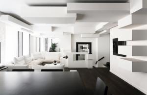 màu trắng đen trong thiết kế nội thất