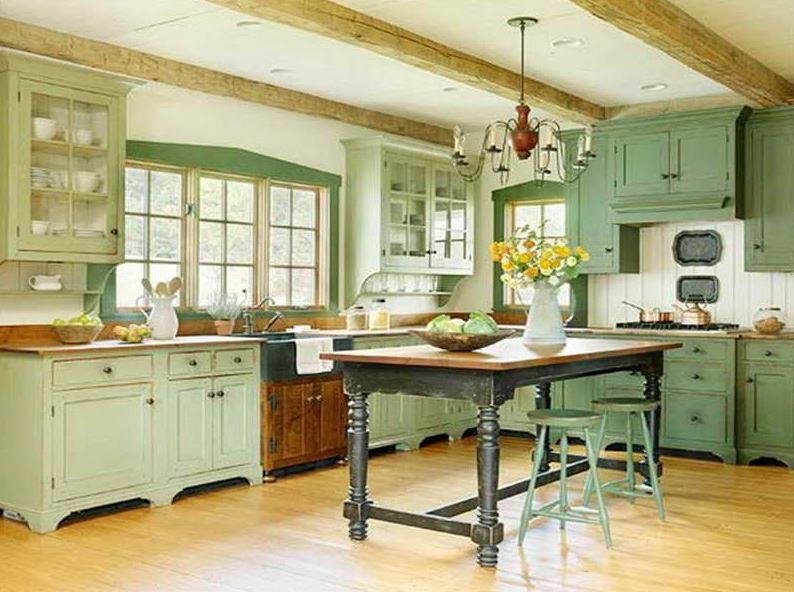 tủ bếp vintage
